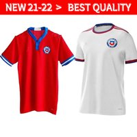 Artiklar 2021-22 Nyaste Chile Soccer Jersey Top Quality Chilean Home Away 21-22 Vidal Alexis Sanchez Felipe Mora Erick Pulgar Football Jerseys