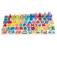 Moda ahşap montessori manyetik bulmaca eğitici oyuncak erken eğitim şekli renk matematik eşleştirme günlük kurulu balık bulmaca sayımı