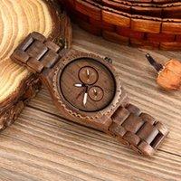 Orologi da polso Bewell Mens Orologi in legno al quarzo Top Brand Cusual Wood Watch Men Data Luminoso Vintage Retro Artigianato W154A