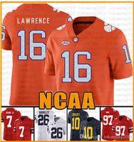 NCAA Clemson Tigers 16 Trevor Lawrence 9 Travis Etienne Jr. Tom Brady Jersey 97 Nick Bosa 7 Dwayne Haskins JR maglie 201-2020 Nuovi RCRTGS
