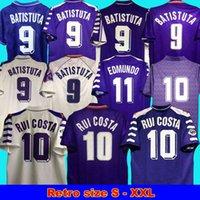 1998 99 Fiorentina Retro Futbol Formaları Batistuta Rui Costa Vintage 98 99 Ev Futbol Gömlek 00 99 Camisas de Futebol 92 93 89 90 95 96