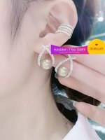 2021 new fashion silver needle women's Korean temperament CROSS EARRINGS Metal Beizhu Earrings
