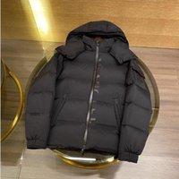 Homens encolhidos para baixo do design de carta de casaco no jaqueta de packet lateral espessa parkas ao ar livre tamanho preto 12345