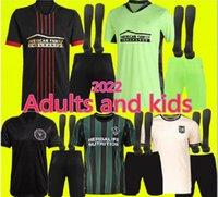 21 22 La Galaxy Soccer Jersey Atlanta United FC LAFC Camisas 2022 Inter Miami CF Chicharito Pavon Jerseys Adultos e Crianças