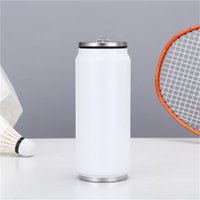 17oz Sublimation Cola 500ml Water Bottle in Bulk Double Walled Stainless Steel Cola Shape Tumblers Insulated Vacuum sea shipping