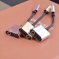 C Tipi 3.5mm Typeec 2 1 Adaptörü Kablo Kordon AUX Ses USB C Hızlı Şarj Kabloları Alüminyum Alaşım Dönüştürücü