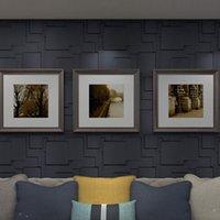 Art3D 50x50cm 3d plástico painéis de parede adesivos isolável auto-adesivo matt preto para sala de estar quarto de tv de quarto (pacote de 12 telhas 32 sq ft)