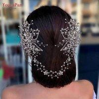 Hair Clips & Barrettes YouLaPan HP401 Luxurious Bridal Tiara Rhinestone Comb Bride Ornaments JewelrySilver Flower Headbands For Women