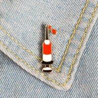 Fabrik Email Pins Zeichnung Blut Benutzerdefinierte Broschen Spritze Tasche Kleidung Revers Brosche Pin Abzeichen Medical Jewelry Geschenk Saum