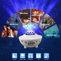 Night Lights LED Star Galaxy Starry Sky Projector Light Built-in Bluetooth Speaker For Bedroom Decoration Child Kids Birthday Gift