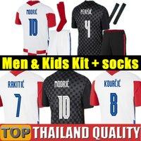 Euro 2020 Croácia camisetas de futebol PERISIC 18 19 20 MÓDICO MANDZUKIC REBIC Croácia camisa de futebol RAKITIC homens kit crianças uniformes