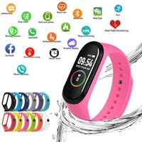 Watch M4 Smart Wristbands for Women Led Screen Fitness Tractor Bluetooth Waterproof Lady Sports Tag Digital