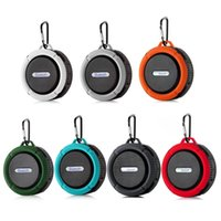 C6 Waterproof Speaker Big Suction Cup Dustproof Bluetooth Stereo Outdoor Sports Mini TF Subwoofer