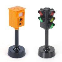 Mini segnali stradali blocchi di luci del traffico con suono led per bambini sicurezza educativi per bambini puzzle traffici luce giocattoli ragazzi ragazze regali