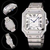 Top Qualité Hommes Mode Montre Classique Square Design Steel Inox Menstres Montres Mouvement automatique Glide Balayez Bracelet Bracelet Bracelet Horloge