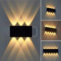 현대 가정 장식 미니멀리스트 더블 헤드 실내 침실 침대 옆 벽 램프 야외 호텔 통로 교수형 문 안뜰 방수 LED 벽 램프