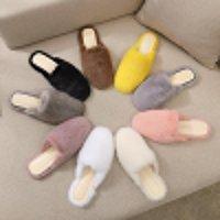 Terlik Bayanlar 100% Yüksek Kaliteli Vizon Katır Ayakkabı Gerçek Casual Düz Ev Kız Açık