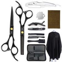 Forbici per capelli Kit di parrucchieri professionale Taglio del barbiere Attrezzo per barbiere Cloak Haircut Comb Pettine Accessori per salone