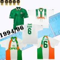 1994 1996 World Cup Keane Retro Soccer Jersey 빈티지 아일랜드어 타운센드 Staunton Houghton 94 96 아일랜드 홈 클래식 축구 셔츠