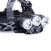 Hoofdlamp Zaklamp, 800 Lumen Oplaadbare LED met licht Ultra-licht Helder waterdichte koplamp, 3 modi Werklampen voor buitenshuis Camping Running Biking Fishing