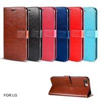 Klasik Stil Kapak Deri Cep Telefonu Kılıfları Için LG Birçok Modelleri Premium PU Kitap Cüzdan Kılıfı Stokta