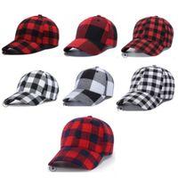 Korea Style Plaid Cotton Baseball Caps Ponytail Ball Hat Women Men Peaked Cap Outdoor Snapback Caps Adjustable Hip-hop Visor Hats D9909