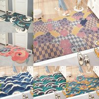 Carpets Irregular Home Entrance Door Mat Japanese Printing Indoor Entry Doormat Rug For Bedroom Bathroom Non Slip LXAF