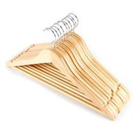 Вешалки стойки деревянные костюма гладкая отделка твердой древесины вешалка с не скользными брюками бар для брюк одежды для одежды для одежды Организатор