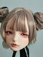 Máscaras de fiesta (Dollkii 05) Chica Mujer Silica Resina Cosplay BJD Cross Vestido Kigurumi Encabezado Mascarilla Anime Play Crossdresser Moll