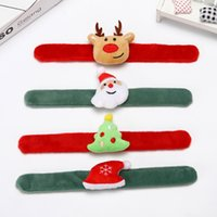 Baby Charm Halloween Christmas Slap Bracelet Jewelry Child Girl Boy Cartoon Santa Claus Elk Soft Wrap Wristband Party Decoration