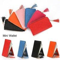 Wallets Women's Wallet Buckle Tassel Zipper Fashion Solid Color Mini Bag Card Clutch Purse