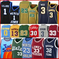 Curry Durant Men NCAA LSU Basketball Jerseys Russell Starthay Harden Harden Young Westbrook 11 Trae Marquette Dwyane Golden Iverson Wade Kevin Stephen Jerseys