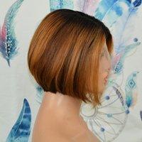 Vanchair 13x6x1 T Parçası Ön Dantel Peruk İnsan Remy Saç Peruk Önceden Koplanma Saç Çizgisi Pixie Kesim Katmanlı% 180 Yoğunluk
