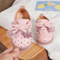First Walkers Baby Girl Princess Shoes With Star Pattern Infant Toddler Shoe Light Soft Sole Outdoor Casual Sneakers Non-slip Cute Sweet
