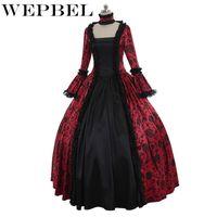 Wepple средневековые женщины платье плюс размер длина пола кружева маскарад готики викторианское винтажное платье на шнуровке платье косплейное мячом 5xl