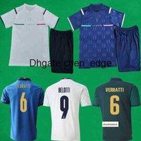 21 22 Italien Fussball Jerseys Shorts Startseite 1321 2022 Verratti Insignente Jorginho Football Sets Italia Torhüter Männer + Kinder Shirts Kits