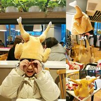 Party Masks Creative Funny Adults Roasted Turkey Hat Plush Velvet Thanksgiving Halloween Cap For Festival Holiday Cosplay Costume