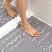 Alta Qualidade 12pcs / Set Banheiro Banheira Não-deslizamento Adesivos Transparentes Pisos Escadas Fita Safety Duche Anti-Slip Tapetes de Banho