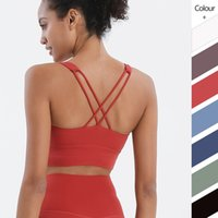 Sports Bra Cross Beauty Back Tank Camis Shockproof Gathering Yoga Running Fitness Vest Gym Clothes Women Underwears Match for Leggings