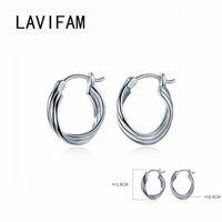 Three Layers Twist Hoop Earrings For Women Real 925 Sterling Silver Minimalist Circle Earing S925 Fine Jewelry & Huggie