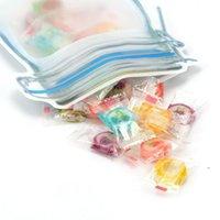 뉴질랜드 스토리지 가방 메이슨 항아리 모양 재사용 가능한 간식 쿠키 조미료 지퍼 인감 누설 방지 주최자 플라스틱 여행 EWE7277