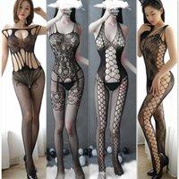 3 stücke / lot heiße sexy lingerie frauen teddy schwarz elastisch erotisch porno sexy kostüme body strümpfe strumpfhosen unterwäsche