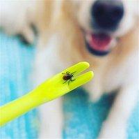 Человеческий портативный крючок Twister Hource Twister Hource Hource Cat Dog Pet Saceates Stick Remover Tool Animal Flaea Touch 2 шт. / Комплект / Лот DDA5947