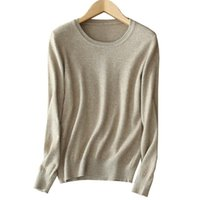 Women's Sweaters Cashmere Wool Sweater Women Solid Color Thin Basic Shirt O-Neck Pullover Female Long Sleeve Knitted Jumpers Drop