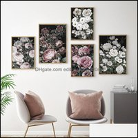 Paintings Arts, Crafts Gifts Home & Gardenpaintings Scandinavian Fashion Poster Rose Flower Nordic Style Floral Wall Art Print On Canvas Mod