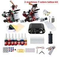 Kit de armas completos de tatuagem para ingles de alimentação de alimentação de agulhas de agulhas de agulhas pequena máquina de arte de arte definir maquiagem permanente