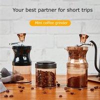 Electric Coffee Grinders Mini Hand Manual Portable Grinder Adjustable Ceramic Bean Mill Transparent Kitchen Mills Tools Powder Grinding