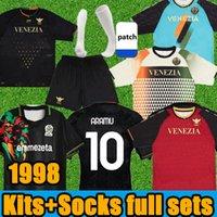 21/22 Venezia FC Soccer Jerseys Männer Kinder Kits + Socken Full Sets Retro Venedig 1998 99 Aramu Forte Fiordilino Peretz Heymans Tessmann Crnigoi 2021 2022 Fußballshirts