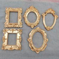 Mini Gold Piccola foto Photo Frame Shooting Puntelli Stile europeo Soccorso Orecchini Manicure Swing