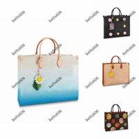 Kvinnor Totes Designer Väskor Tote Handväskor M45495 Kvinnor Fritid Generös Väska Kanvas Sadel Mode All-Match Classic Stitching Retro Stor Kapacitet Stil